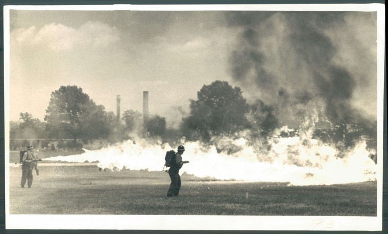 Chemical weapons testing at Edgewood Arsenal. Photo dated June 29, 1958. (Baltimore Sun)