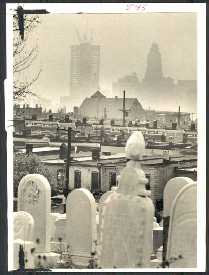 Haze over Baltimore in photo dated August 26, 1972. (Baltimore Sun archives)