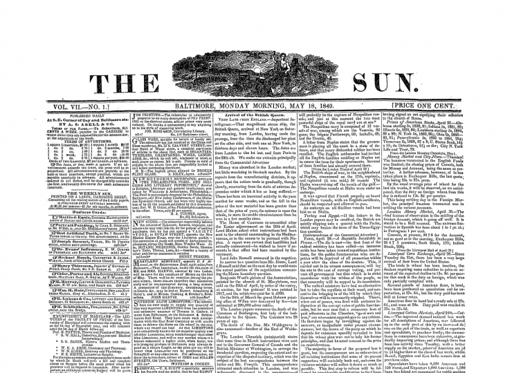 """The Baltimore Sun's slogan """"Light For All"""" first appeared in the paper on May 18, 1840."""