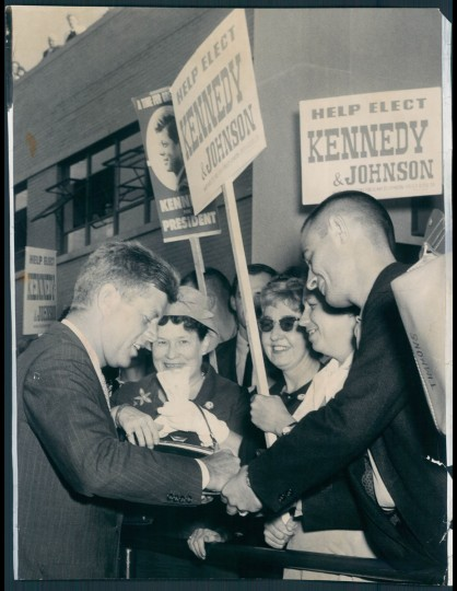 September 3, 1960 - Then-Senator John F. Kennedy campaigns in Maryland. (Frank Gardina/Baltimore Sun)