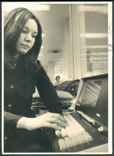 An early computer system at The Baltimore Sun, pictured here in 1975.