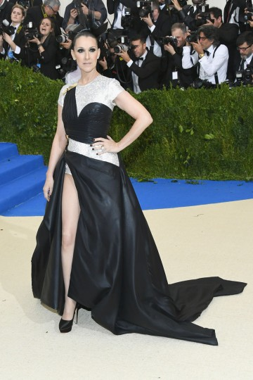"""NEW YORK, NY - MAY 01: Celine Dion attends the """"Rei Kawakubo/Comme des Garcons: Art Of The In-Between"""" Costume Institute Gala at Metropolitan Museum of Art on May 1, 2017 in New York City. (Photo by Dia Dipasupil/Getty Images For Entertainment Weekly)"""