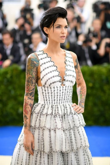 """NEW YORK, NY - MAY 01: Ruby Rose attends the """"Rei Kawakubo/Comme des Garcons: Art Of The In-Between"""" Costume Institute Gala at Metropolitan Museum of Art on May 1, 2017 in New York City. (Photo by Dimitrios Kambouris/Getty Images)"""