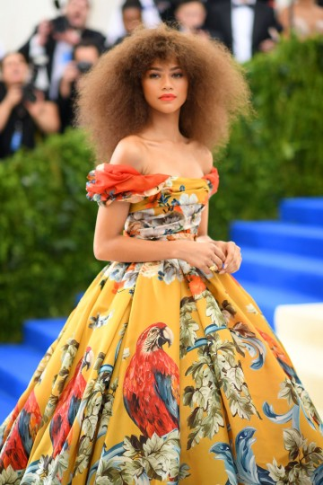 """NEW YORK, NY - MAY 01: Zendaya attends the """"Rei Kawakubo/Comme des Garcons: Art Of The In-Between"""" Costume Institute Gala at Metropolitan Museum of Art on May 1, 2017 in New York City. (Photo by Dimitrios Kambouris/Getty Images)"""
