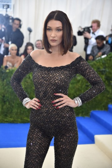 """NEW YORK, NY - MAY 01: Bella Hadid attends the """"Rei Kawakubo/Comme des Garcons: Art Of The In-Between"""" Costume Institute Gala at Metropolitan Museum of Art on May 1, 2017 in New York City. (Photo by Theo Wargo/Getty Images For US Weekly)"""