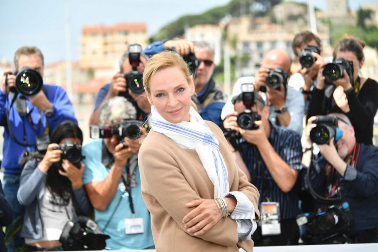 US actress and President of the Un Certain Regard jury Uma Thurman poses on May 18, 2017 during a photocall at the 70th edition of the Cannes Film Festival in Cannes, southern France. (Loic Venance/AFP/Getty Images)
