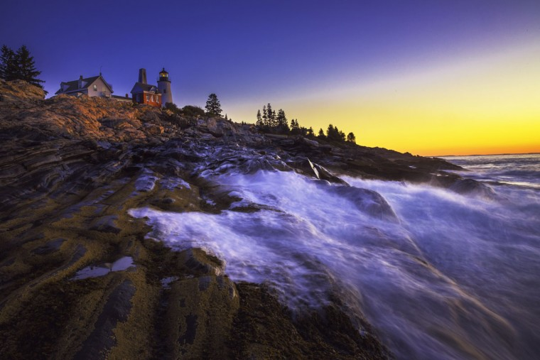 Pick the right time of day. Early morning can make for some dramatic shots, such as this photo by reader Kevin Moore, taken in Maine. A slow shutter speed makes the water seem even more fluid.