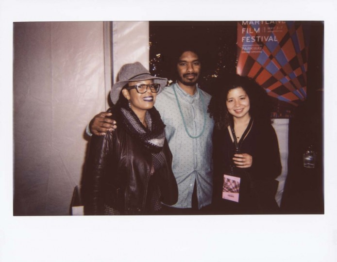 "Kecia Elan, producer of ""They Charge For the Sun""; Terence Nance, director of Opening Night short ""They Charge For the Sun""; and Jessica Kingdon, director of Opening Night short ""Commodity City"" at the Opening Night Gala."