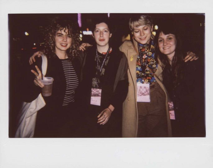 "Natalie Jenison, director of short ""Scanners""; Becca Morrin, DJ Book of Morrin; Rozie Jordan, visual artist; and Marnie Ellen Hertzler, director of short ""Growing Girl."""