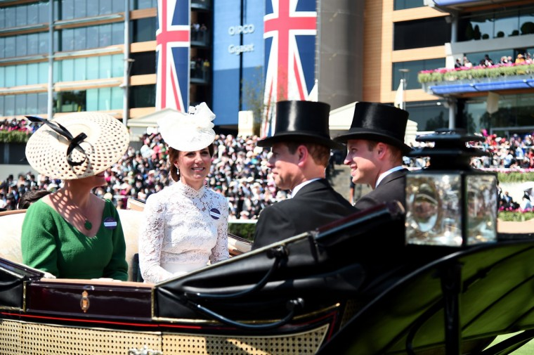 Catherine, Duchess of Cambridge, Sophie, Countess of Wessex, Prince William, Duke of Cambridge and Prince Edward, Earl of Wessex on day 1 of Royal Ascot at Ascot Racecourse on June 20, 2017 in Ascot, England. (Photo by Eamonn M. McCormack/Getty Images for Ascot Racehorse)