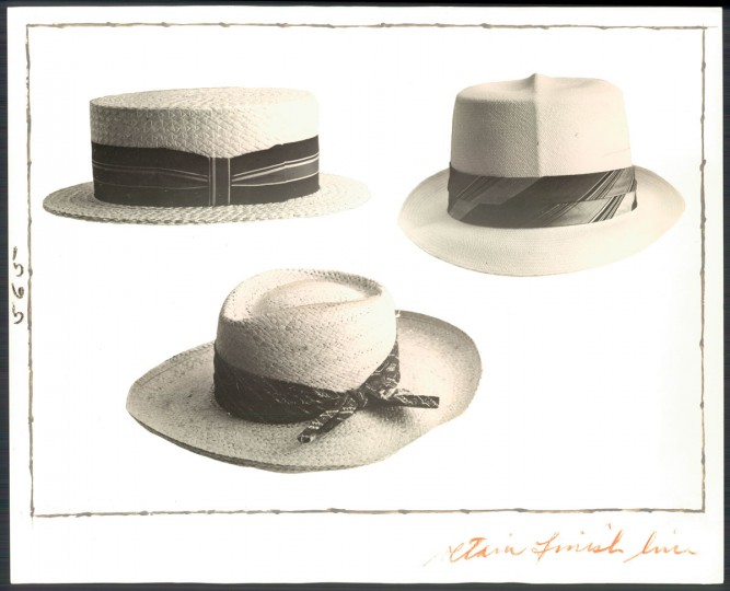 Various styles of straw hats. Photo dated July 7, 1963. (Baltimore Sun archives)