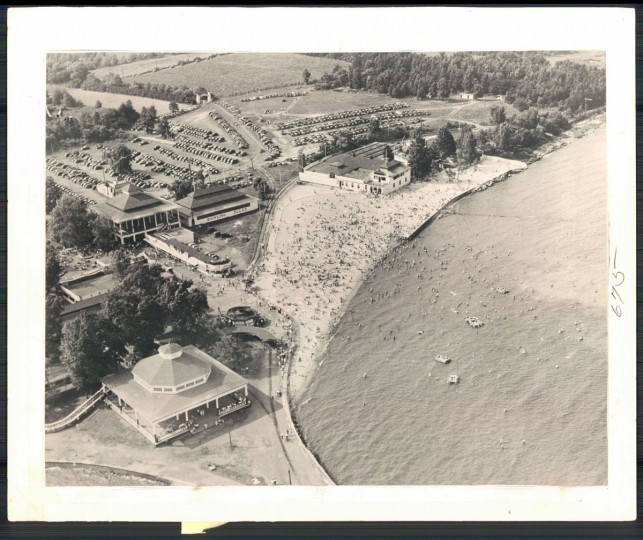 Aerial view of Bay Shore Amusement Park, August 1947. (Baltimore Sun archives)
