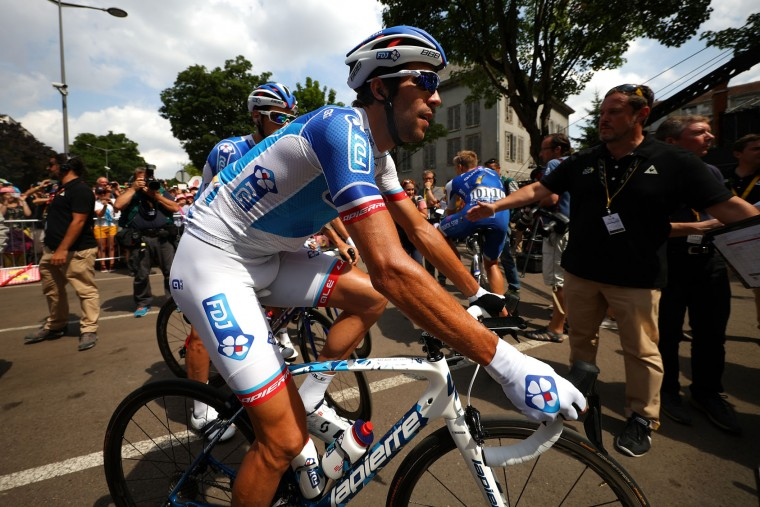 Thibaut Pinot of France riding for FDJ waits to sign on during stage seven of the 2017 Le Tour de France, a 213.5km stage from Troyes to Nuits-Saint-Georges on July 7, 2017 in Troyes, France. (Photo by Chris Graythen/Getty Images)