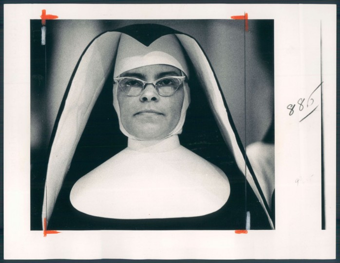 A sister with the Oblate Sisters of Providence dons the older style habit in July, 1979. (Baltimore Sun archives)