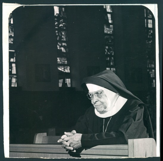 A member of the Oblate Sisters of Providence in May, 1968. (Baltimore Sun archives)