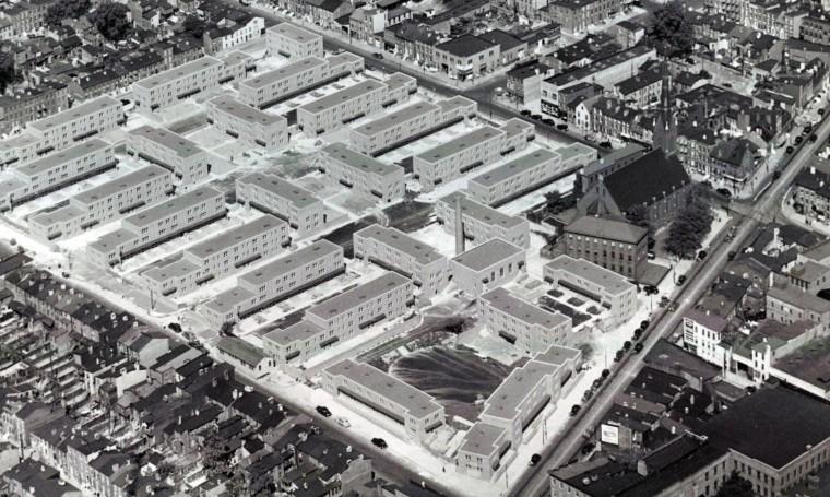 West Baltimore's Poe Homes housing project under construction in 1940. (Robert Kniesche/Baltimore Sun)