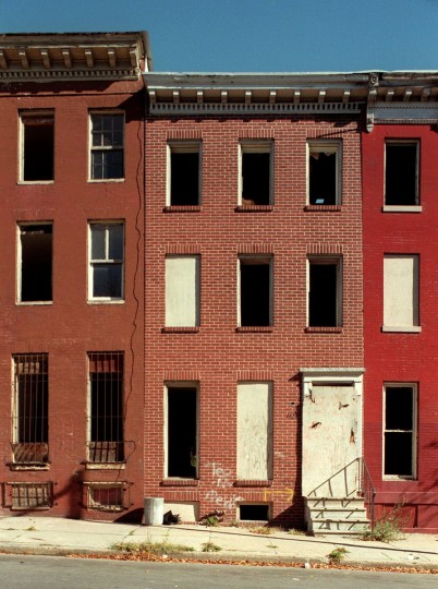 BALTIMORE, MD--Oct. 31, 1998-- Former homesites where Thurgood Marshall lived in Baltimore City. Pictured is : 1127 Argyle Ave. Photo by Larry C. Price/Sun Staff.