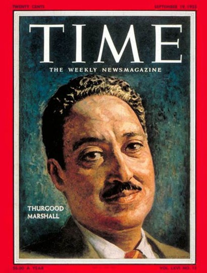 Time cover from September 19, 1955. Thurgood Marshall. (Cover courtesy of TIME)
