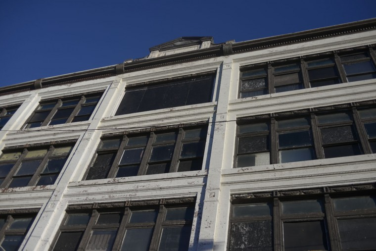 "Before its most recent incarnation as the Nevermore Haunt, the building was a furniture store called Kaufman's. Before that, it was grandly called ""the Great House of Isaac Benesch and Sons."" (Christina Tkacik/Baltimore Sun)"