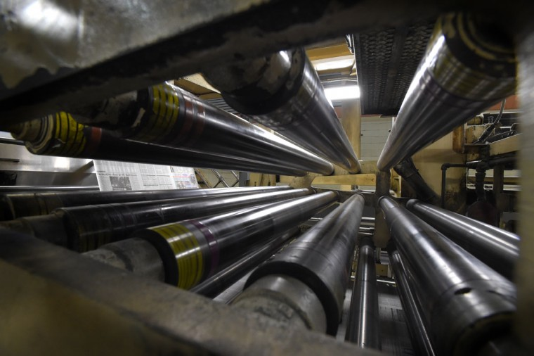 The plant uses approximately 13,000 rolls of paper per year. (Lloyd Fox/Baltimore Sun)