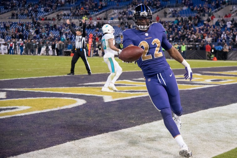 Cornerback Jimmy Smith didn't want to let Mosley hog the spotlight, nabbing his own pick six in the 4th quarter. He ran the interception back 50 yards and extended the ball out to me before rushing off to the sidelines to celebrate with his teammates. (Ulysses Munoz/Baltimore Sun)
