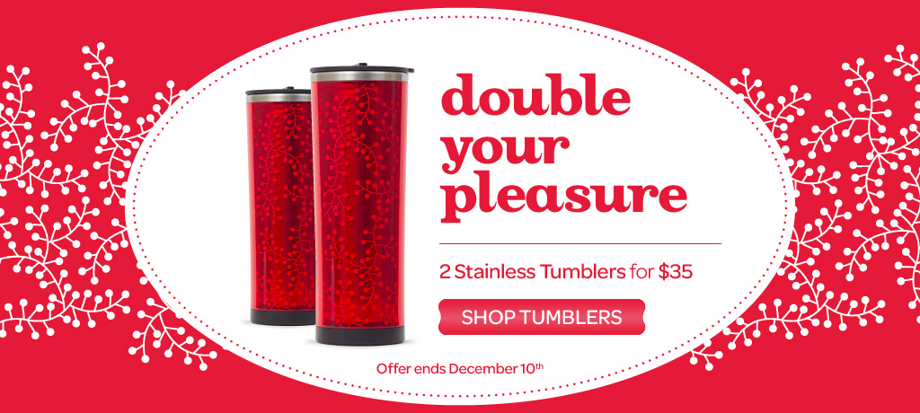 2 Double-wall stainless tumblers for $35!