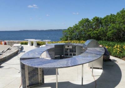 Oceanside Outdoor kitchen