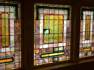 1925 Window First United Methodist Church Denton Texas USA Return To Simple Basic Masculine Inexpensive Stained Glass Discarded When The