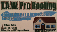 Website for T.A.W. Pro Roofing