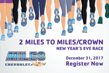 18th Annual 2 Miles to Miles Crown New Year's Eve Race