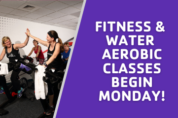 Group Fitness and Water Aerobic Classes Returning