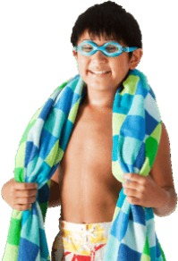 Boy Swimmer With Towel