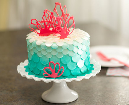 How-To Make an Under the Sea Mermaid & Coral Cake