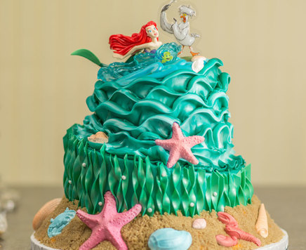 How-To Make a Two-Tier Topsy-Turvy Disney Princess Ariel Cake
