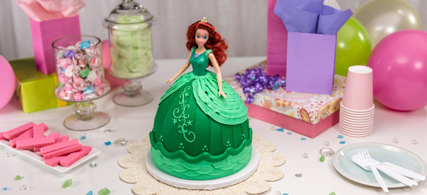 Barbie Cake Design Goldilocks : How-To Make a Disney Princess Ariel Doll Cake - Cakes.com