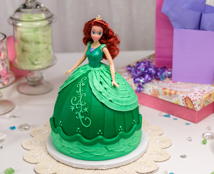 How-To Make a Disney Princess Ariel Doll Cake