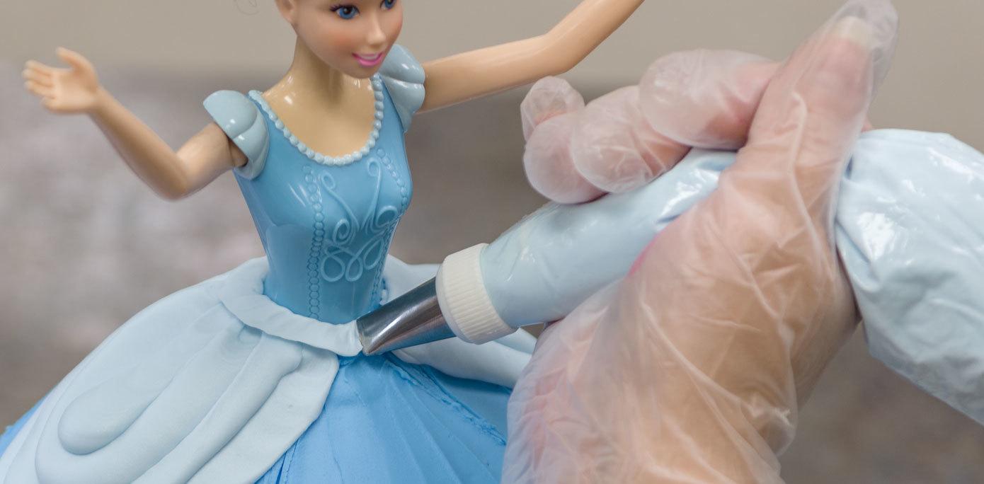 Cinderella Doll Cake waist