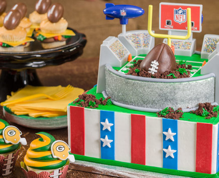 How-To Make a Tiered NFL Football Stadium Cake