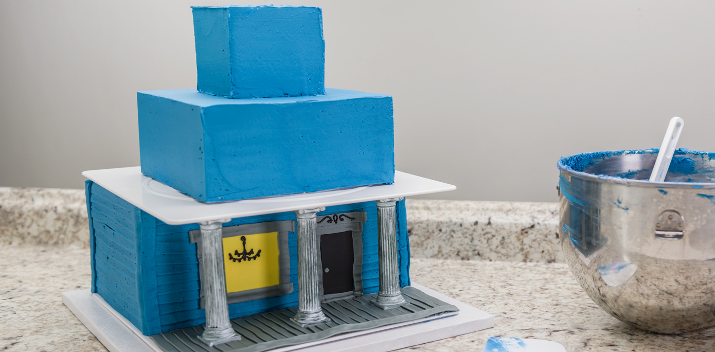 Haunted House Cake Top Layers