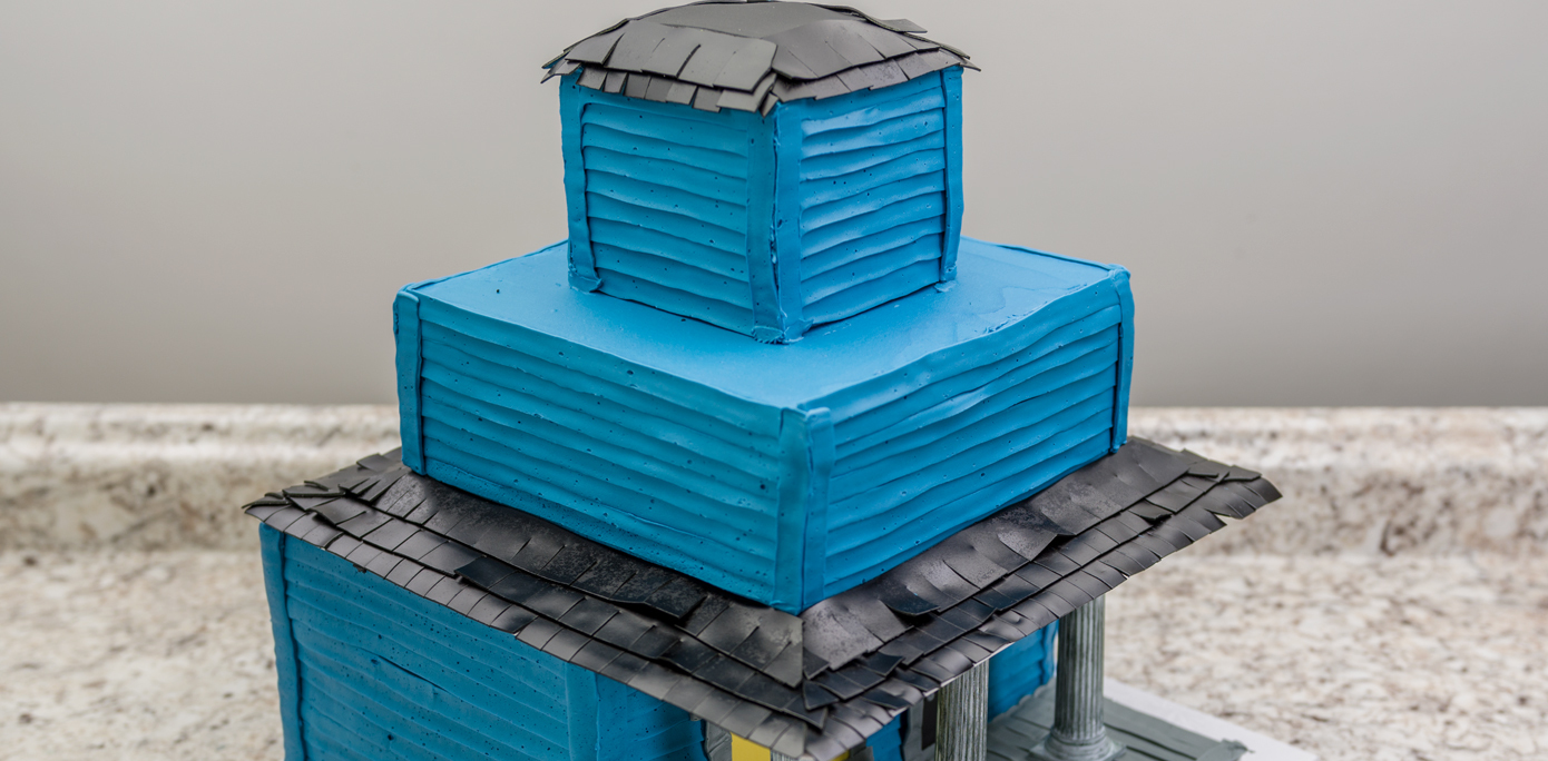 Haunted House Cake Roof