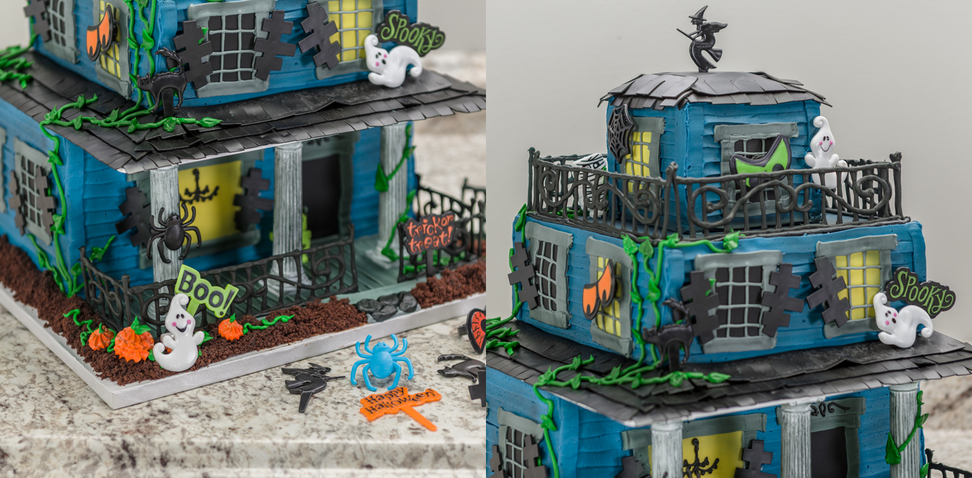 Haunted House Cake Picks Rings