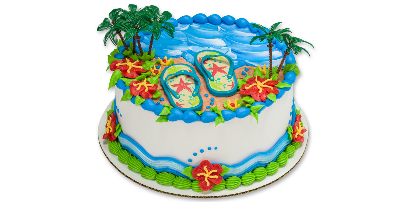 Cake Decorating Ideas Summer : How-To Make an Easy Summer Beach or Luau Party Cake ...