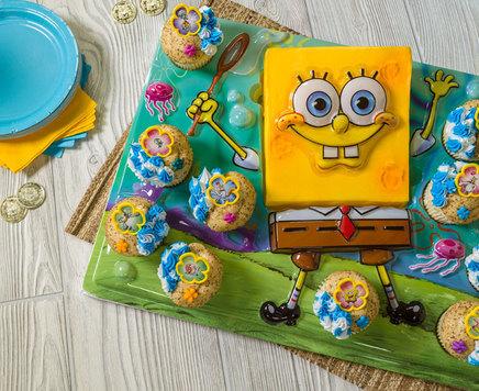 How-To Make a SpongeBob SquarePants Birthday Cupcake Platter