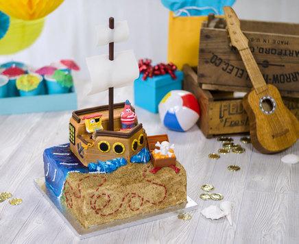 How-To Make a SpongeBob SquarePants Pirate Ship Cake