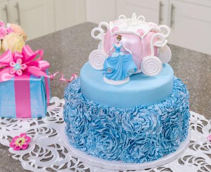 How-To Make a Disney Princess Cinderella Tiered Cake