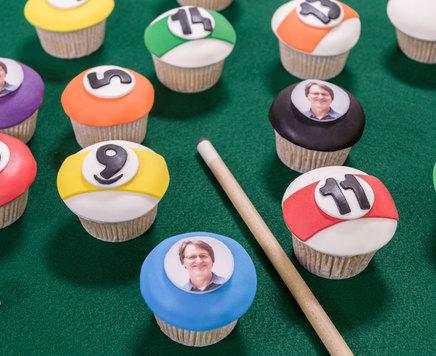 How-To Make Pool Ball Cupcakes