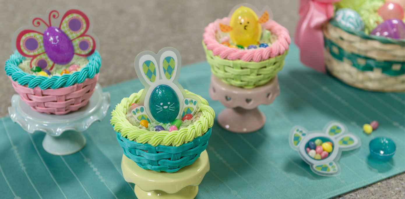Easter Cake Edible Decorations : How-To Make Edible Easter Baskets for Kids - Cakes.com