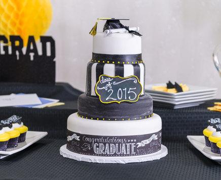How-To Make a 4-Tier Graduation Chalkboard Cake