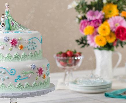How-To Make a Frozen Fever Anna, Elsa & Olaf Cake