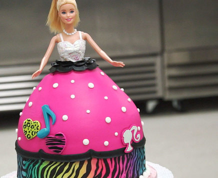 How-To Make a Rock Star Barbie Doll Signature Cake